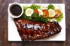 Baby back ribs. Photo of a baby back ribs stock photo