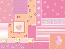 Baby background. Illustration of baby female background Royalty Free Stock Photography