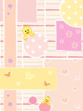 Baby background. Illustration of baby female background Stock Photos