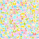 Baby background. The background of the characters on the nursery theme Royalty Free Stock Image