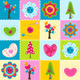 Baby background. In stitched textile style Stock Image