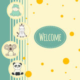 Baby background with animal Stock Image