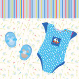 Baby background for boy Stock Images
