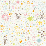 Baby background. With cute elements Royalty Free Stock Photo