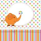 Baby background with elephant Stock Image