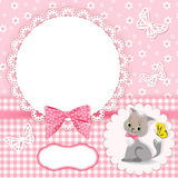 Baby background with frame. Royalty Free Stock Photography