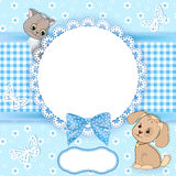 Baby background with frame. Stock Images