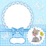 Baby background with frame. Stock Photos