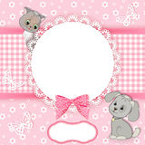 Baby background with frame.