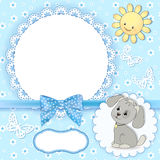 Baby background with frame. Royalty Free Stock Photos