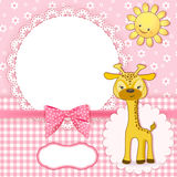 Baby background with frame. Vector illustration Stock Image