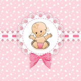 Baby background with frame. Stock Photography
