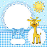 Baby background with frame. Vector illustration Royalty Free Stock Photography