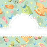 Baby background illustration. With free space for photo Stock Photo