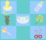 Baby background ,  illustration Royalty Free Stock Images