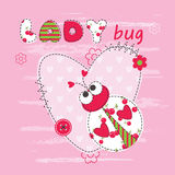 Baby background with ladybug Stock Photos
