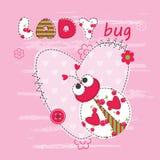 Baby background with ladybug Stock Photo
