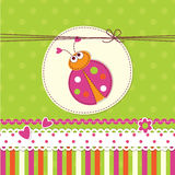 Baby background with ladybug Stock Photo