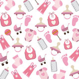 Baby background objects design Royalty Free Stock Photo