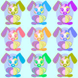 Baby background pattern whit easter rabbit Royalty Free Stock Images