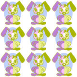 Baby background pattern whit easter rabbit Stock Photography