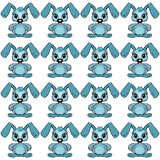 Baby background pattern whit easter rabbit Royalty Free Stock Photography
