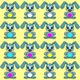 Baby background pattern whit easter rabbit Royalty Free Stock Image