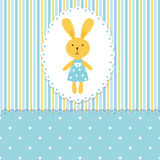 Baby background with rabbit Royalty Free Stock Photo
