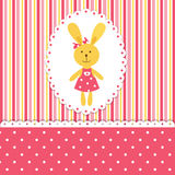 Baby background with rabbit Royalty Free Stock Image