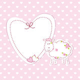 Baby background with sheep Royalty Free Stock Images