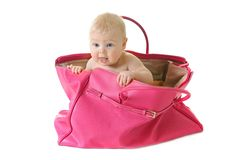 Baby in a bag Stock Photos