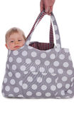 Baby in bag Royalty Free Stock Photography
