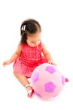 Baby and Ball Royalty Free Stock Image