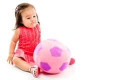 Baby and Ball Royalty Free Stock Photos