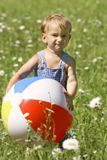 Baby with ball. Portrait of baby with ball Royalty Free Stock Images