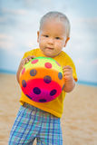 Baby with ball Royalty Free Stock Image