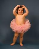 Baby Ballerina. A baby ballerina in a tutu Royalty Free Stock Image