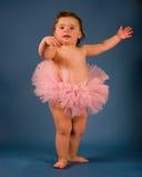 Baby Ballerina. A cute baby girl with a ballerina tutu Royalty Free Stock Photography