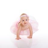 Baby Ballerina. Very cute happy baby girl wearing ballerina skirt Royalty Free Stock Photography