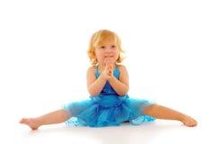 Baby Ballerina. Cute little ballerina on white background Stock Images