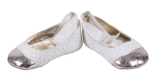 Baby Ballerina Shoes. For protecting little feet during the early years - path included Stock Images