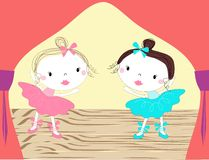 Baby ballerinas. This is file of EPS10 format Stock Photo
