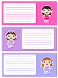 Baby ballerinas notes3 Royalty Free Stock Image