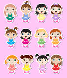 Baby ballerinas Stickers Stock Photo