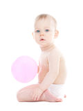 Baby with a balloon Stock Photography