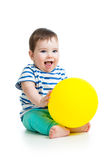 Baby with balloon in hands Stock Photography