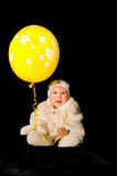 Baby and balloon Royalty Free Stock Photo
