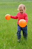 Baby and balloons Royalty Free Stock Image