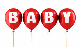 Baby balloons Royalty Free Stock Photo