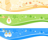 Baby Banner Set Stock Photography
